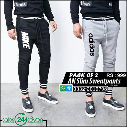 Pack of 2 AN Slim Fit Sweat Pants