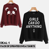 Pack of 2 PRINTED SWEAT SHIRTS