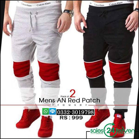 Pack of 2 AN Red Patch Trousers
