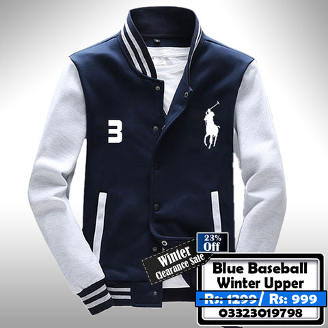Blue Baseball Winter Upper