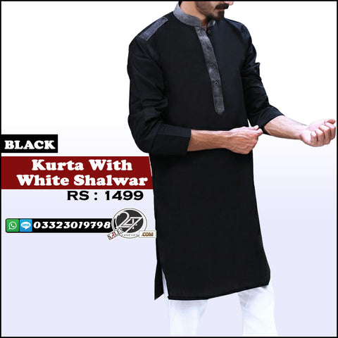 Eid Special Kurta with White Shalwar