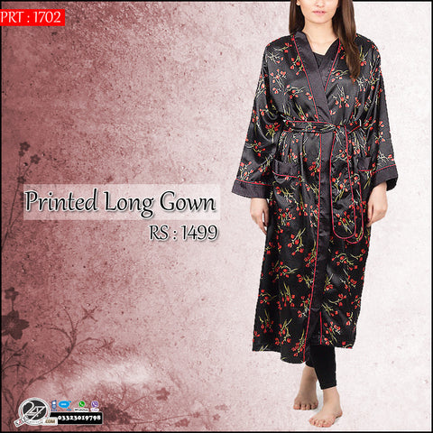 Long Printed Sleeping Gown