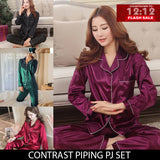 12-12 SALE: CONTRAST PIPING PJ SET FOR HER
