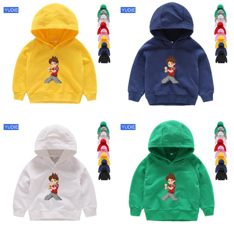 PACK OF 2 PRINTED HOODED SWEAT SHIRTS FOR BOYS