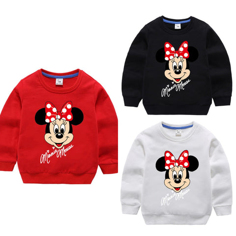 PACK OF 3 MINNIE MOUSE PRINTED KIDS SWEAT SHIRTS FOR GIRLS (Print 206)
