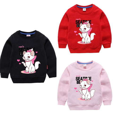 PACK OF 3 PRINTED KIDS SWEAT SHIRTS FOR GIRLS (Print 205)