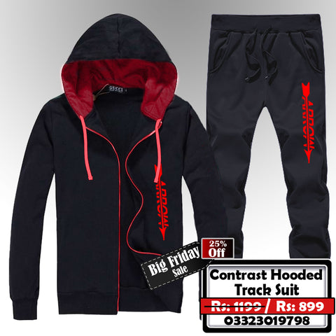 CONTRAST HOODED TRACK SUIT