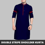 DOUBLE STRIPED PRINTED SLEEVES KURTA 2