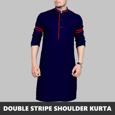 DOUBLE STRIPED PRINTED SLEEVES KURTA 3