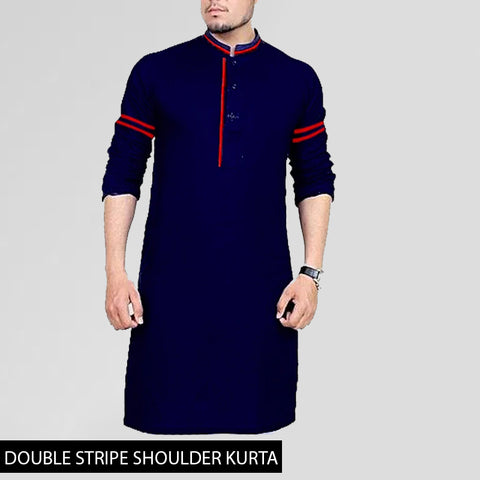 DOUBLE STRIPE SHOULDER KURTA