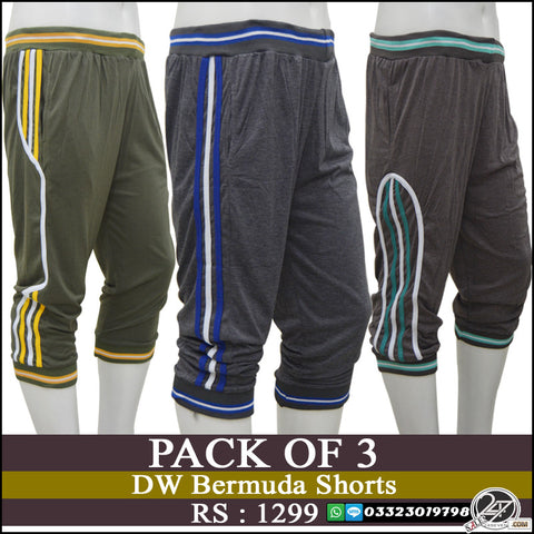 Pack of 3 DW Bermuda Shorts