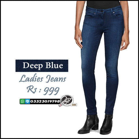 Deep Blue Ladies Jeans