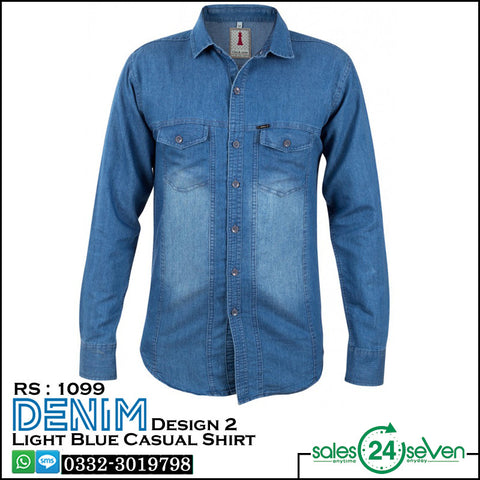 DENIM Sky Blue Casual Shirt Design # 2