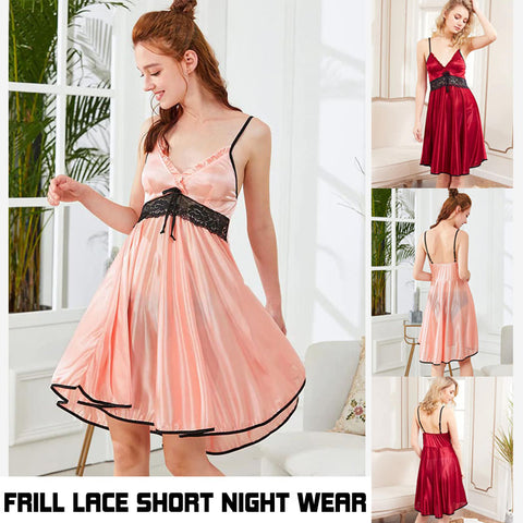 Frill Lace Short Night Wear