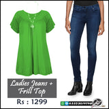 Frill Top with Ladies Jeans