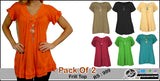 Pack of 2 Frill Top