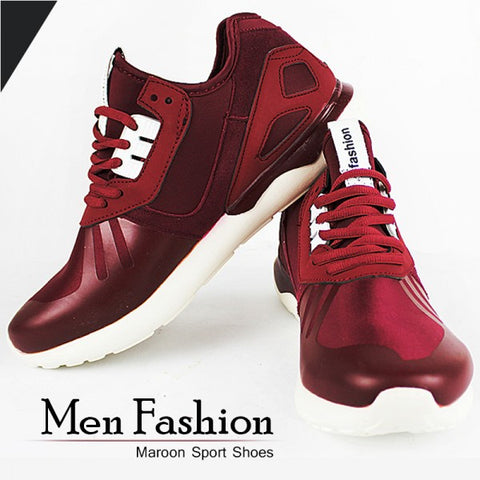 Men's Fashion Maroon Sports Shoes.