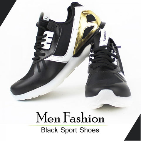Men's Fashion Black Sports Shoes.
