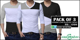 Pack of 3 HOMBRE Long Sleeves T-Shirts