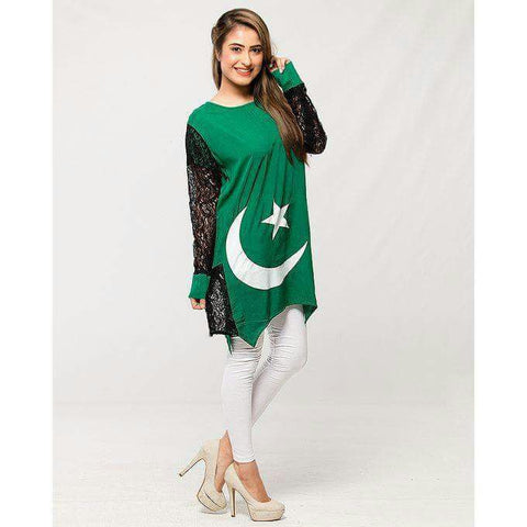 Net Sleeved Independence Top (Design KH-002)