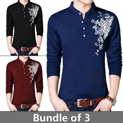 PACK OF BBM Flower Printed Full Sleeves T shirts
