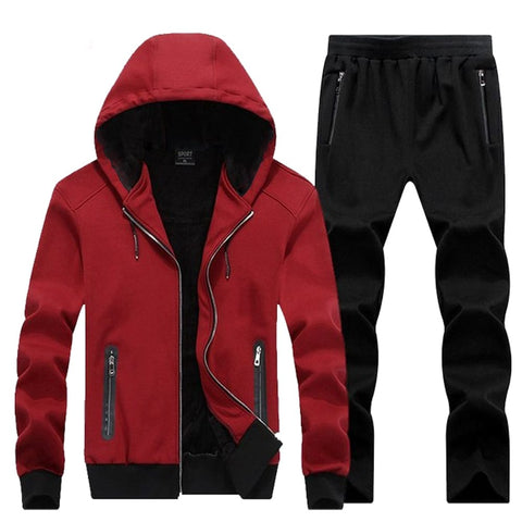 ZIPPER POCKETS HOODED TRACK SUIT