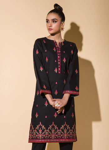 Full Embroidered Un Stitched Long Kurti