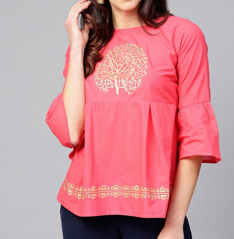 Short Embroidered Top (Design 4)