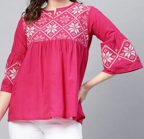 Short Embroidered Top (Design 2)
