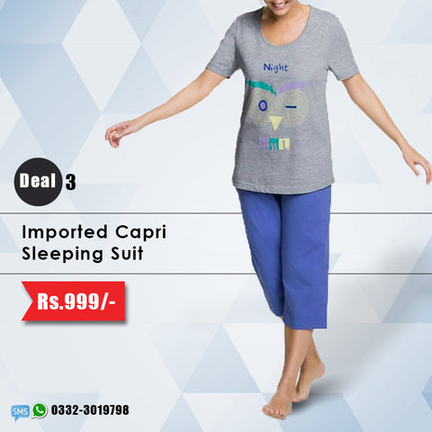 Imported Capri Sleeping Suit (Deal-3)