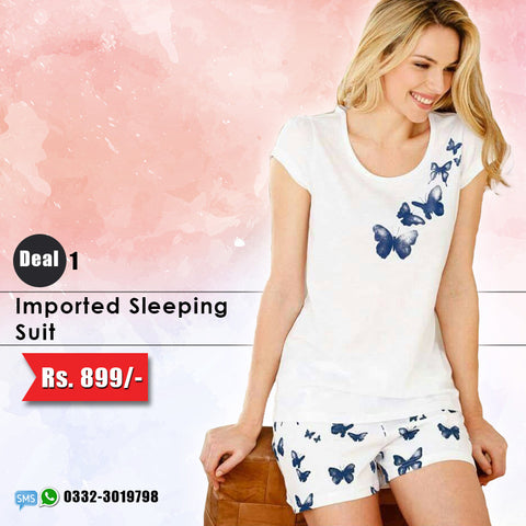 Imported Sleeping Suit (Shorts & Top) Deal-1