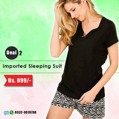 Imported Sleeping Suit (Shorts & Top) Deal-2