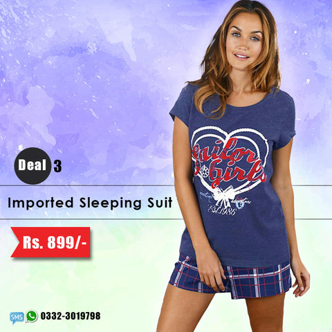 Imported Sleeping Suit (Shorts & Top) Deal-3