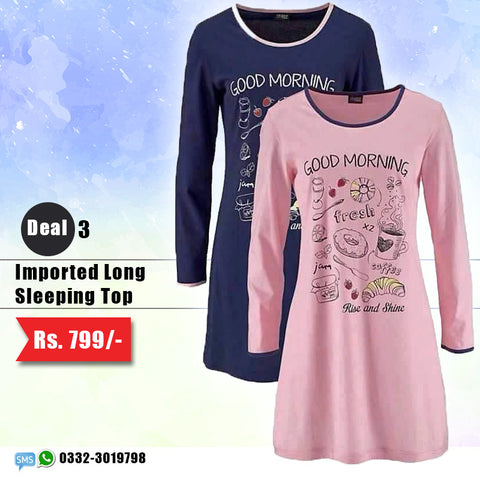 Imported Long Sleeping Top (Deal-3)