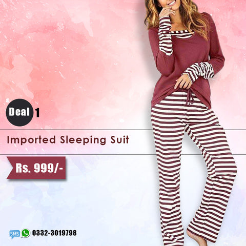 Imported Stripe Sleeping Suit (Deal-1)