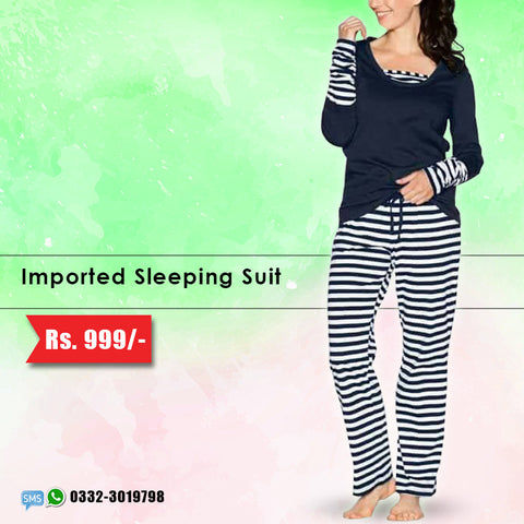 Imported Stripe Sleeping Suit (Deal-2)