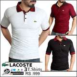 Pack of 3 Lacoste contrast collar polo