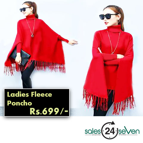 Female Fleece Poncho