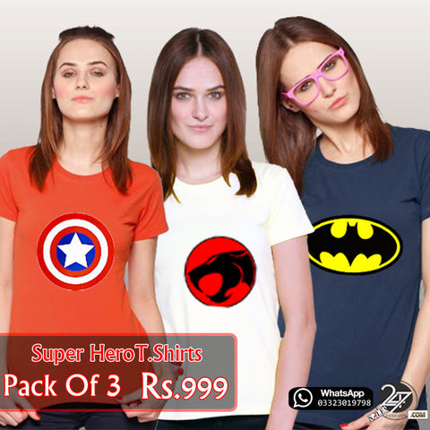 Super Hero Deal Pack of 3 For Females