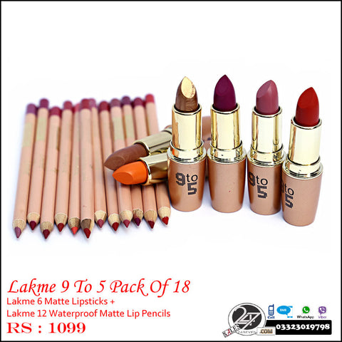 Lakme 9 To 5 PAck of 18