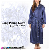 Long Piping gown