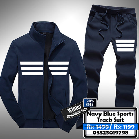 NAVY BLUE SPORTS TRACK SUIT