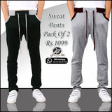 Pack of 2 Designer Wear Sweat Pants