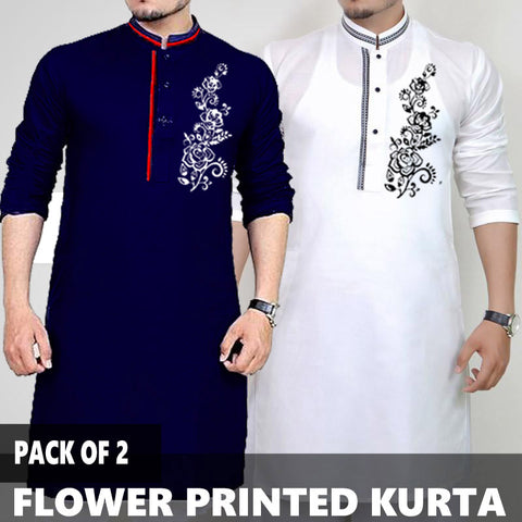 PACK OF 2 FLOWER PRINTED KURTA
