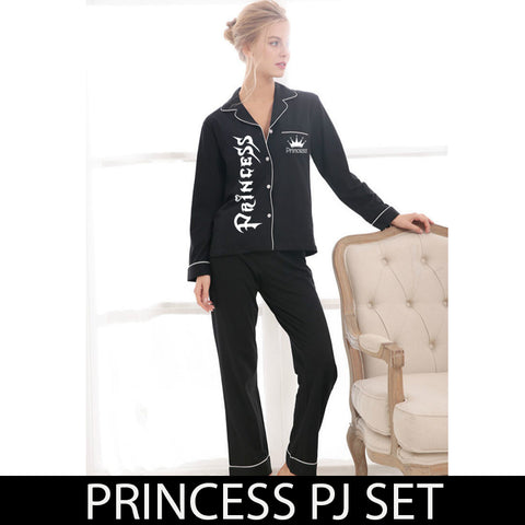 Black Princess Pj Set