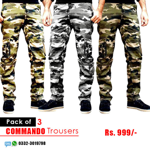 Pack of 3 army trousers