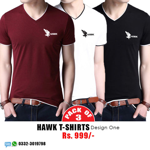 Pack of 3 Hawk T shirts D1