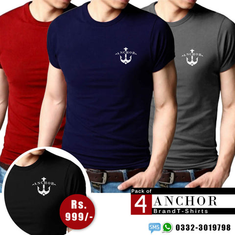 Pack of 4 Anchor brand T-shirts