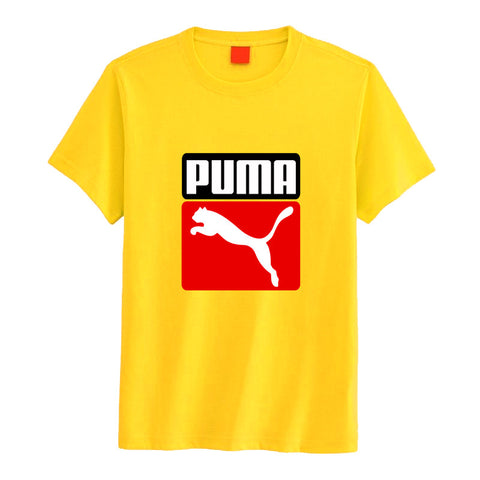 yellow puma printed t-shirt