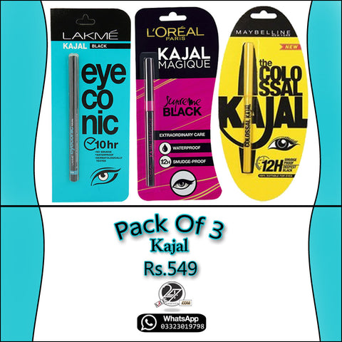 Pack of 3 Branded KAJAL